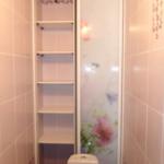 шкаф в туалет с дверками купе