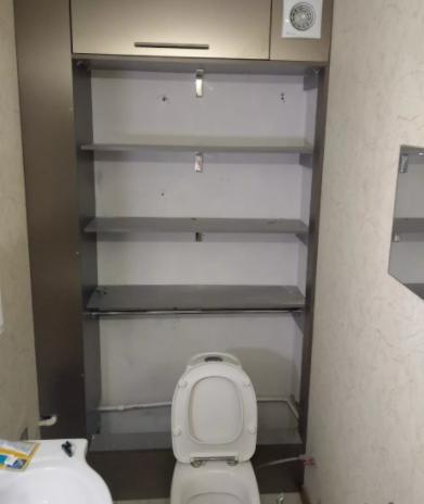 стеллаж в туалет своими руками