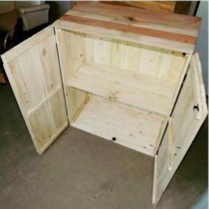 Шкаф из мебельных щитов - открыт