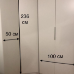 Размеры углового шкафа от Икеа