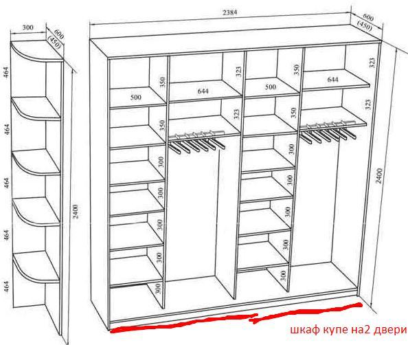 наполнение в шкаф