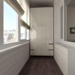 шкаф в стиле модерн на балконе
