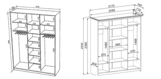 2 разных шкафа