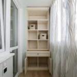 шкаф с отделами под кастрюли на балконе