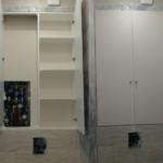 встроенный шкаф в туалете из лдсп
