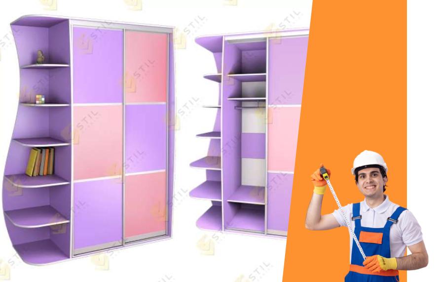 шкаф-купе детский с полочками